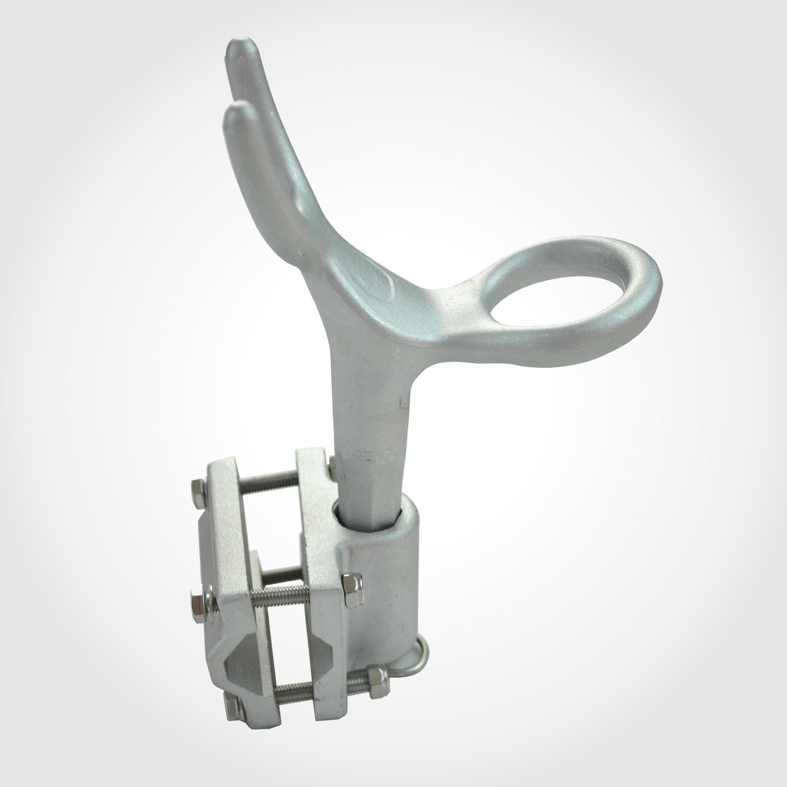 Alloy rod holder strong marine aluminium fishing with rail for Boat fishing rod holders