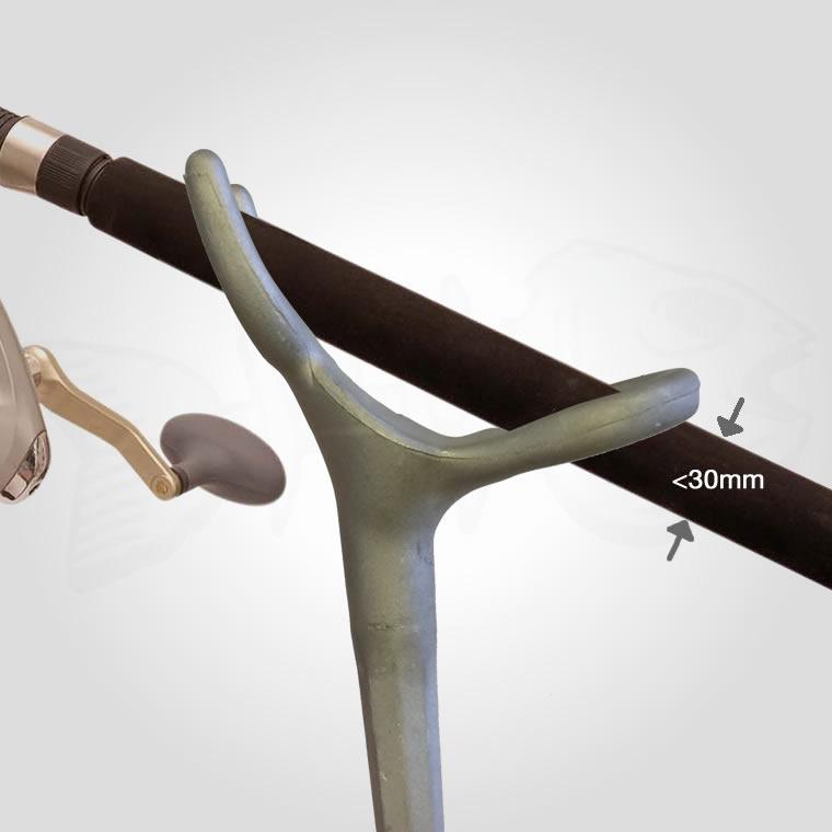 alloy rod holder strong marine aluminium fishing with rail bracket mount