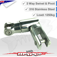 Stainless Steel Boat Anchor 3 Way Swivel 1250kg