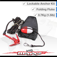 Small 0.7kg Folding Fluke Lockable Anchor Kit