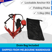Large 1.5kg Folding Grapnel Lockable Anchor Kit