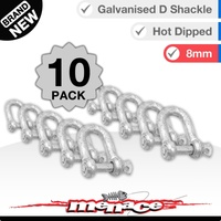 10 Piece 8mm Galvanised D-Shackle Shade Sail Home