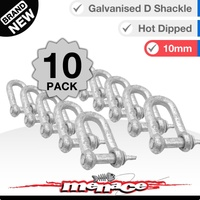 10 Piece 10mm Galvanised D-Shackle Shade Sail Home