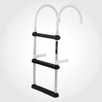 3 Step Alloy Aluminium Folding Boat Ladder