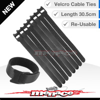 16 X Hook & Loop Re-usable Nylon Cable Ties