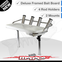 Deluxe Bait Board - 4 Rod Holders - 2 Mounts
