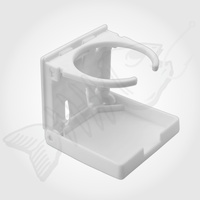 White Folding Marine Boat Drink CUP HOLDER [PLASTIC]