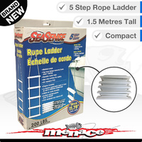 Folding Rope Ladder Boat Yacht Marine 5 Step UV PVC Non-slip
