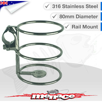 316 Stainless Steel Rail Mount DRINK CUP Holder 25mm [S/S]