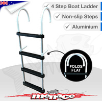 4 Step Aluminium Folding Boat Ladder Alloy