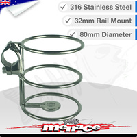 316 Stainless Steel Rail Mount DRINK CUP Holder 32mm [S/S]
