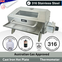 Wander Oz Portable Marine BBQ 316 S/Steel  Window
