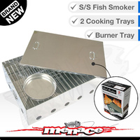 Fish Smoker - Stainless Steel Portable Camping Smoke Cooker