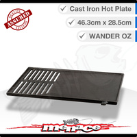 Cast Iron BBQ Cooking Hot Plate 463 x 285mm