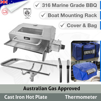 Wander Oz Portable Marine BBQ Window - Complete Set - Rack & Bag