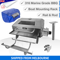 316 Portable Marine BBQ Hood - Complete Set - Rack & Bag