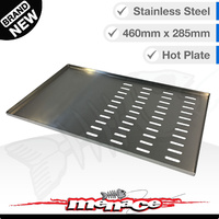 Stainless Steel BBQ Cooking Hot Plate 460 x 285mm