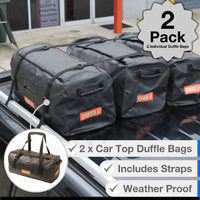 2 x Auto Travel Duffle Bag - Roof Rack Mount