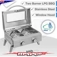 Kiwi Sizzler Portable S/S Two Burner BBQ