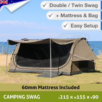 Double King Canvas Swag Camping Tent