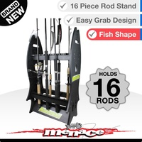 Fishing Rod Holder Rack - Holds 16 Rods