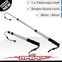 Telescopic Fishing Gaff - Twist-Lock Retractable Stainless Steel Hook [round]