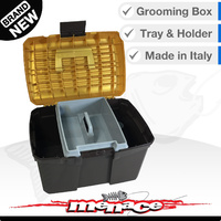 16L Tack Box - Pets / Grooming Tool - Gold/Brown Equestrian