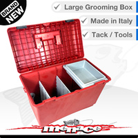 26L Tack Box - Pet / Grooming Tool Boxes Equestrian - Red