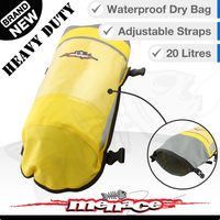 20L Waterproof Dry Duffle Bag - Heavy Duty - Yellow