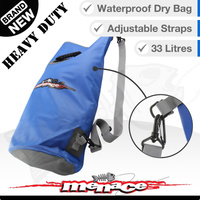 33L Waterproof Dry Duffle Bag - Heavy Duty - Blue