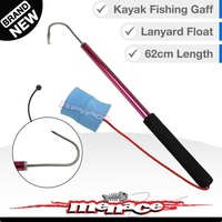 Fishing Gaff - Stainless Hook - Aluminium Spear with Float [red kayak]