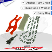 Anchor Pack with Hand Winder Kayak Rope