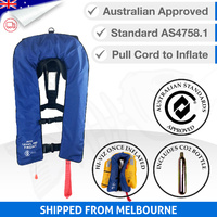 Inflatable Life Jacket PFD 1 Level 150 - Blue (Economy Version)