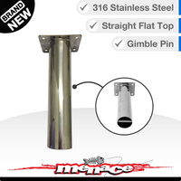 Boat Rod Holder - 316 Stainless Gimble Pins - Straight