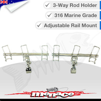 3-Way Adjustable Rod Holder - RAIL MOUNT Pair