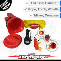 Marine Bailer Bucket Safety Kit + Survival Tools
