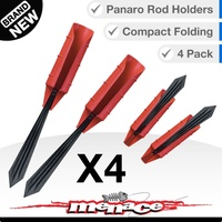 4 x Panaro Fishing Rod Bank Holder/Stand - Folds in Half