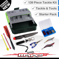 139 Piece Fishing Tackle Box Kit - Two Tray - Green