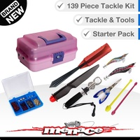 139 Piece Fishing Tackle Box Kit - Two Tray - Pink