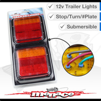Marine Boat Pair 12 Volt LED Trailer Tail Lights