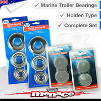 Complete Set Marine Boat Trailer Wheel Bearings - Holden