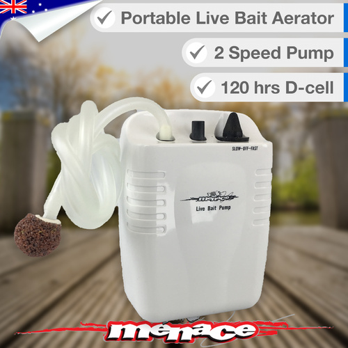 Live Fish Bait Aerator Oxygen Air Pump