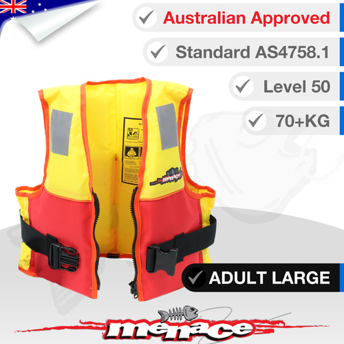 Hercules PFD2 Foam Life Jacket - Adult Large (Type 2 Level 50)