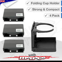 4 x Black Folding Marine Boat Drink CUP HOLDER [PLASTIC]