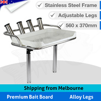 Premium Bait Board - 4 Rod Holders - 2 Mounts