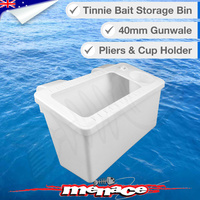 Tinnie Bait Storage Bin with Cup Holder