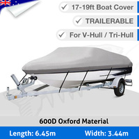 Premium Heavy Duty 600D 17-19ft 5.2-5.8M Marine Grade Trailerable Boat Cover