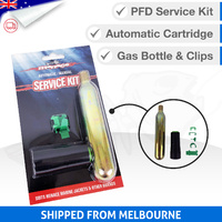 AUTOMATIC Recharge Kit - Co2 Gas Refill Cylinder with Clips [UML MK5]
