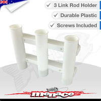 3 Link Rod Holder Socket Plastic WHITE