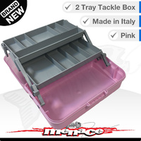 Panaro Premium Tackle Box - Two Trays - Pink